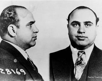 Al Capone Mugshot - 1931 - Chicago - Photo - Mafia - Mobster - Mob - Gangster - Scarface - Mug Shot - Illinois - Gang - Photograph, Man Cave
