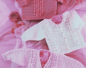 Baby Cardigans And Sweater, Crochet Pattern. PDF Instant Download.