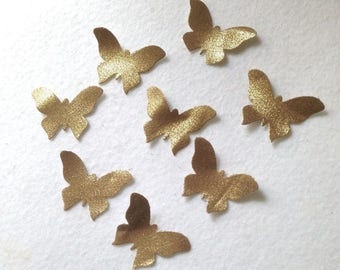 8 cuts dies gold coated cotton butterflies