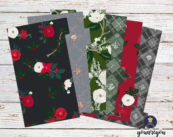 Christmas Holiday Planner Dividers Personal size, A5 Planner Dividers set of 6