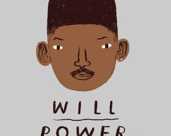 Will Power Will Smith T-shirt / fresh prince of bel air shirt / funny pun shirt / 90s nostalgia shirt / will power tee /  1990s TV