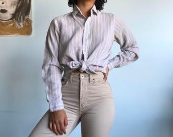 Vintage sz S pastel striped top