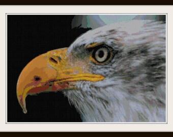 Eagle Cross Stitch - Bird Cross Stitch Pattern - Patriotic - PDF Download