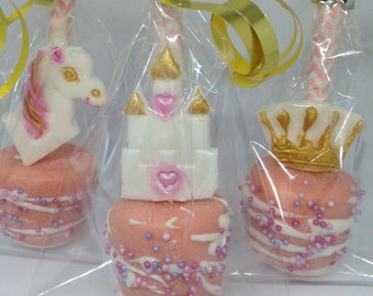 Princess marshmallow pop party favours - We can make any theme...contact us with your requirements