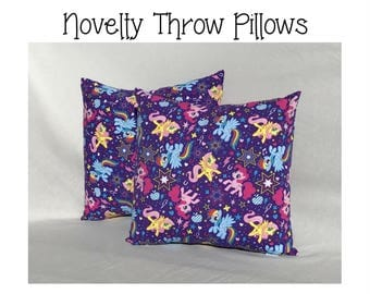 Throw Pillow Girl ~ Pony Throw Pillow ~ Kids Accent Pillow ~ Nursery Decor ~ Decorative Pillow ~ 16x 16 Pillow ~ Girls Room Ideas