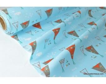 tissu popeline coton imprimé tipi indien x50cm