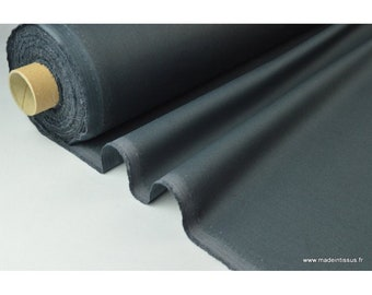 Anthracite waterproof coated fabric.