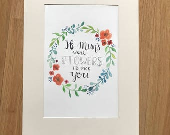 If Myms were flowers I'd pick you watercolour oerfevt for Mothers Day!