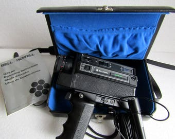 20% OFF Vintage Movie Camera Bell and Howell 1225 AF Filmosonic XL, Retro Collectible 8M Camera with Case - made in Japan 70s