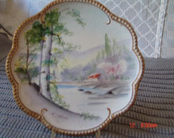 Raised Painted Plate by Vcacca