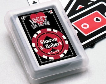 12pcs Lucky in Love Personalized Playing Cards - JM7490025-FC6704