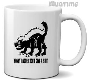 Meme Honey Badger - Collectors Mug Cup - Coffee Tea - Ceramic 330ml 11oz