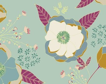 Art Gallery Fabrics Garden Dreamer Sprinkled Peonies Serene