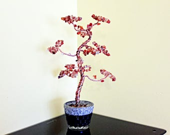 Money tree, crystal tree, feng shui tree, bonsai tree, wire tree, tree sculpture, carnelian tree, wishing tree, spiritual sculpture