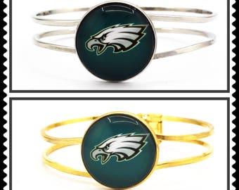 Super Bowl 52 Champions Philadelphia Eagles (Gold or Silver Circle) Cuff Bracelet