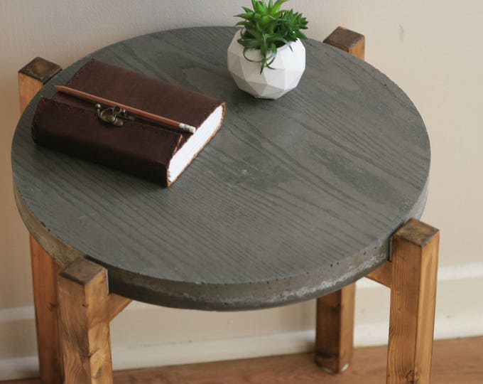 Industrial Concrete and Reclaimed Wood Coffee Table | Contemporary | Concrete Table | Urban | Rustic