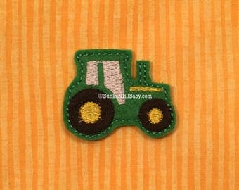FELTIES 4 pc set Green Tractor