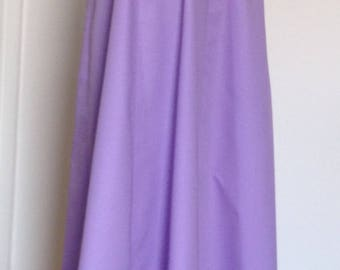 A-line 6 panels Skirt Edwardian style ladies, full length (98-100 cm), lilac, black sizes 4-30