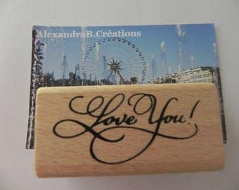 "A stamp ""love you"" rectangular 60 mm x 25 mm"