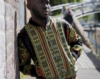African Bomber Jacket Black Panther Dashiki Jacket AfroPunk Burning Man Festival Clothing African Clothing African Jacket Festival Jacket