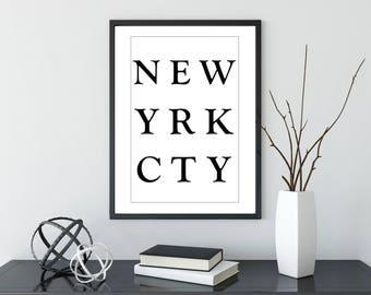 New York Poster | Prints | Home Decor | Travel | Wall Decor | Wall Art | Travel Gift | Wanderlust