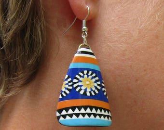 Polymer clay flowers earrings