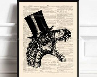 Dinosaur Art Poster, Dinosaur Room Decor, Gifts For Girlfriend, Him Gift Poster, Geeky Groomsmen Gift, Geekery Dinosaur, Gifts For Dad  001