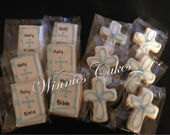Memorial/Communion/Baptism/Bible/Cross/Sugar Cookies