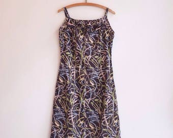 Vintage summer cute hippie bohemian beach dress S