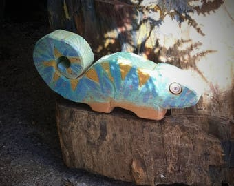 Chameleon Wooden toy.