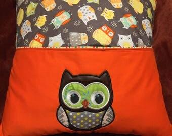 Owl Reading Pocket Pillow