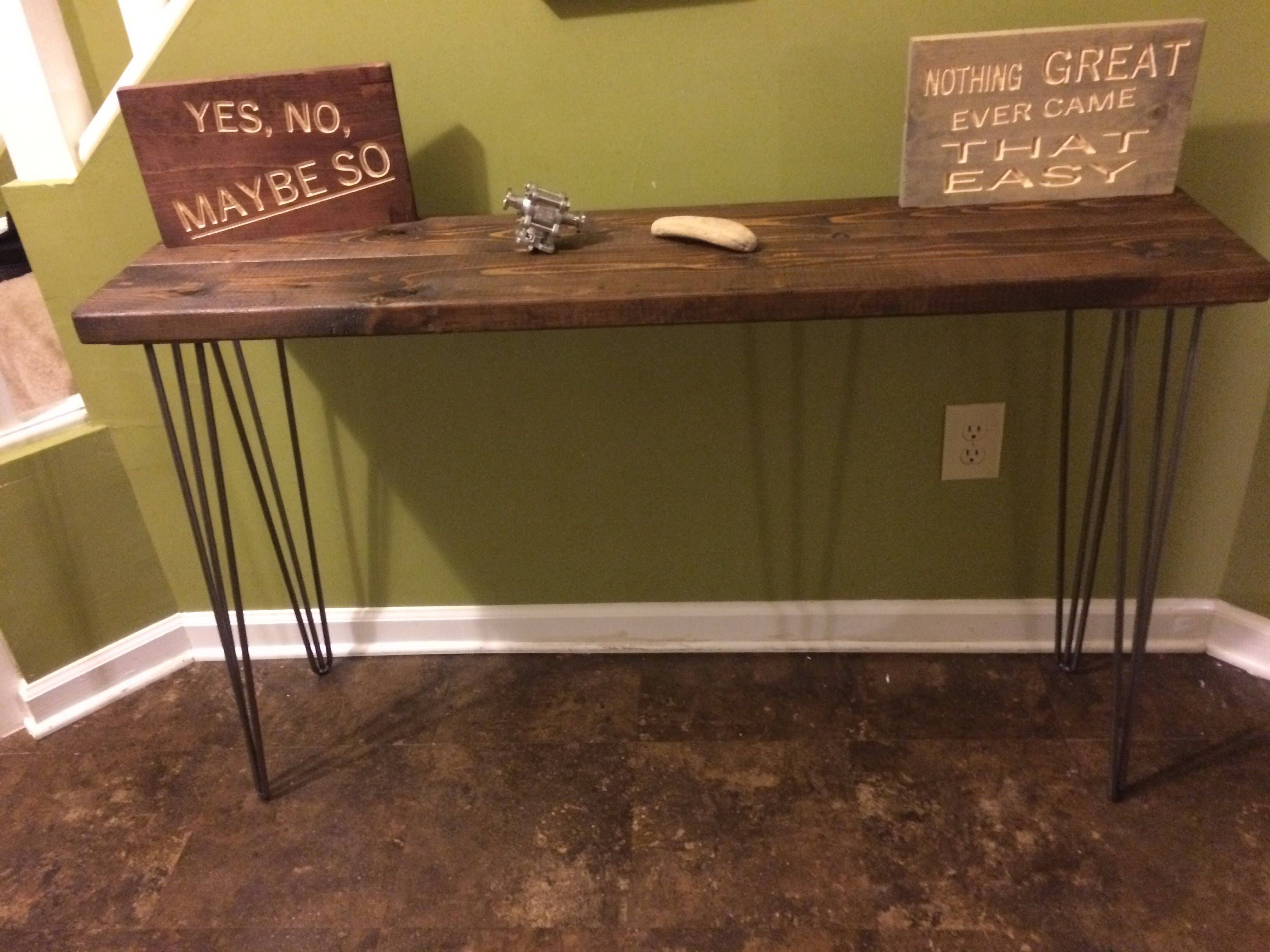 Foyer Table Hairpin Legs : Modern rustic entryway table console sofa