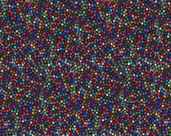 Radiance Black Multicolour Dots from Chong-A Hwang by Timeless Treasures C5132-BRT 44 inch fabric by the yard or metre