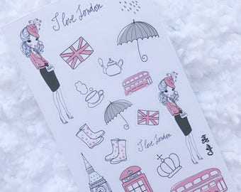 London Girl Stickers Planner | Personal Size |