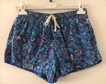 Vintage 90s Shorts swimwear for Women Flower Print