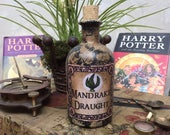Mandrake Potion Bottle. Harry Potter. Mandrake. Harry Potter Magic Potion. Magic Potion. Harry Potter Gift. Harry Potter Decor.