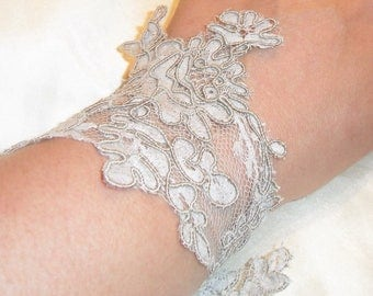 Brown lace for bridal wedding bracelet