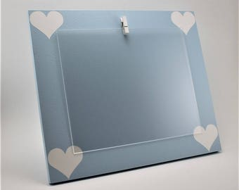 blue picture frame 8x10 picture frame light blue picture frame custom picture frame heart picture frame clip picture frame
