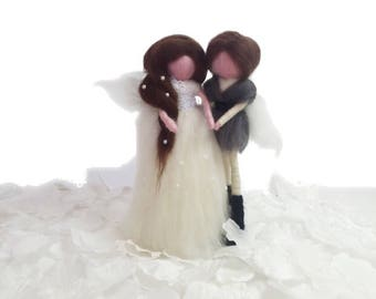 Needle Felted Bride and Groom