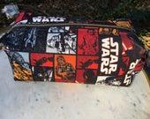 Toiletry Bag - Star Wars- The Last Jedi- The Force Awakens- Rey, Finn, Poe Dameron- School Supplies - Electronics case- Valentine Gift