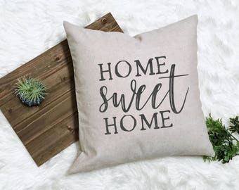 Home Sweet Home Pillow - New Farmhouse Pillow - First Home Gift - New House Gift - Country Housewarming Gift - New Rustic Home - Fixer Upper