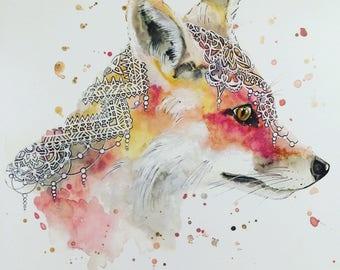 Boho Fox Print