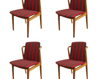 Set Of Four Dining Chairs Attributed To Hans Olsen