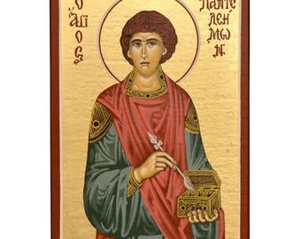 Orthodox Icon Byzantine Icon Religious Icon Saint Panteleimon Christian Icon