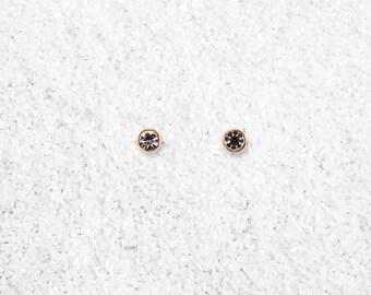 Hypoallergenic Silicone Circle Zirconia Stud Earrings