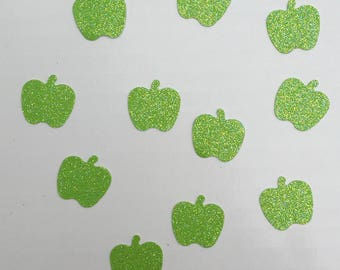 Apple Confetti Glitter Confetti Green Apple Confetti Fall Confetti Holiday Confetti Birthday Confetti Wedding Confetti Shower Confetti