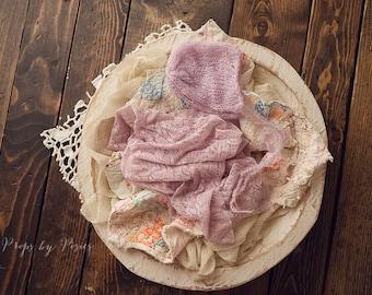 Newborn Photography Prop - Newborn Layer Bundle, Lavendar