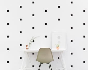 Square wall Decal Pattern Kids room shape Wall Sticker set, Kids Bedroom, Living room Wallpaper Vinyl Wall Decals Wall Stickers Home Decor