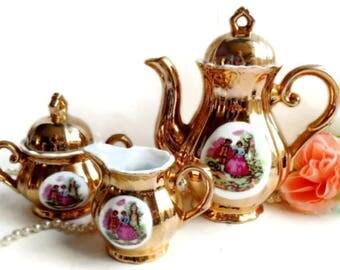 Bavaria Gold 24 k  Tea Set 3 pieces