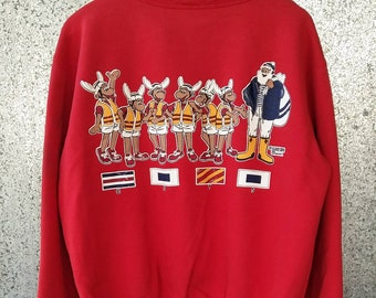 Vintage Captain Santa Yatch Club Sweatshirt